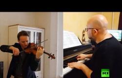 ثنائي موسيقي روسي-مصري في أيام الكورونا