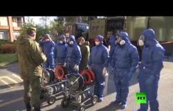 العسكريون الروس يعقمون دور المسنين في إيطاليا
