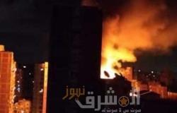إخمادحريق هائل بعقار بمنطقة محرم بك وسط الإسكندرية