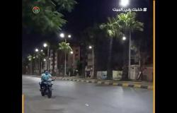 هدوء في حركة المرور بشارعي الهرم وفيصل تزامنًا مع حظر التجول