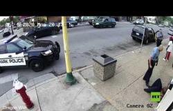 مشاهد درامية لاعتقال جورج فلوريد قبل مصرعه على يد شرطي أمريكي