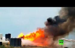 """لحظة انفجار نموذج المركبة الفضائية """"ستار شيب"""" خلال اختباره"""