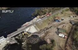 انهيار جسر وإعلان الطوارئ بمقاطعة مورمانسك شمال غرب روسيا