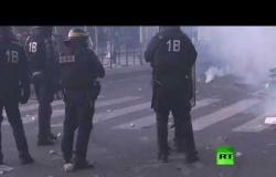 مواجهات بين الشرطة والمحتجين أثناء مظاهرة منددة بالعنصرية وعنف الشرطة في باريس