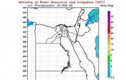 """بالخرائط.. """"التنبؤ بالفيضان"""": أمطار خفيفة على هذه المناطق"""