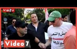 شاهد أحمد السقا ورجاء الجداوى يشاركان فى ثورة 30 يونيو