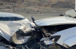 """مكة المكرمة .. مصرع وإصابة 4 أشخاص في حادث مروري بـ""""بئر الغنم"""""""