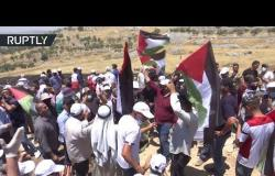 المئات يحتشدون في بلدة عصيرة شمالي نابلس رفضا لخطة الضم الإسرائيلية