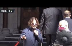 جوني ديب وطليقته أمبر هيرد أمام المحكمة العليا في قضية التشهير