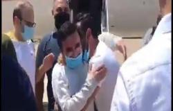بالفيديو .. وصول تاج الدين إلى بيروت بعد إطلاقه من سجون أميركا