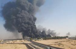 حريق هائل يخلف سُحبًا داكنة في سماء العاصمة المصرية