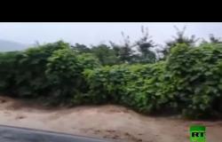 الأمطار الغزيرة تغمر شوارع كوريا الجنوبية