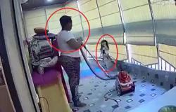 فيديو الأب والخادمة.. شاهد ماذا فعلا لحظة انفجار بيروت