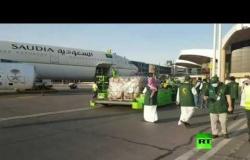 أولى طلائع جسر المساعدات الجوي السعودي للبنان