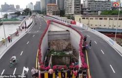 بالفيديو.. لماذا تركت الصين منزلًا وسط جسر رئيسي؟