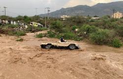 تهور ومجازفة لقطع السيول.. مشاهد صادمة  وقانوني: يطالب بهذه العقوبات
