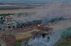 سوريا: قصف مكثف لقوات النظام على إدلب وفصائل المعارضة تسقط طائرة استطلاع روسية