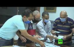فرز الأصوات في انتخابات مجلس الشيوخ في مصر