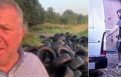 بالفيديو .. انتقام مروع لفلاح من رجل ألقى إطارات قديمة في مزرعته