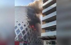 بالفيديو.. اندلاع حريق جديد بالحي التجاري في بيروت