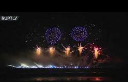 روسيا: سماء موسكو تتألق في مهرجان الألعاب النارية
