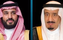 خادم الحرمين وولي العهد يتلقيان التهنئة من الرئيس المصري بمناسبة اليوم الوطني الـ90