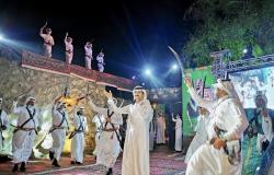 بالفيديو من قرية سبت العلاية التراثية.. بلقرن تحتفل باليوم الوطني