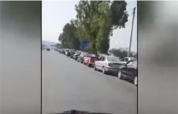 طوابير طويلة للحصول على البنزين في مدينة طرطوس السورية .. بالفيديو