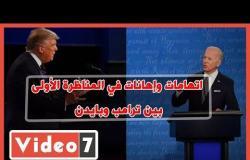 اتهامات وإهانات في المناظرة الأولى بين ترامب وبايدن