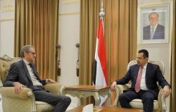 """""""عبد الملك"""" يبحث مع السفير الفرنسي آلية تسريع تنفيذ اتفاق الرياض وتشكيل الحكومة اليمنية الجديدة"""