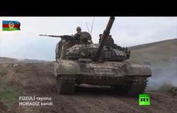 الجيش الأذربيجاني يظهر دبابات استولى عليها في قره باغ