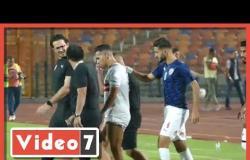 قلق لاعبى الزمالك بعد خروج حازم إمام مصابا فى لقاء دجلة