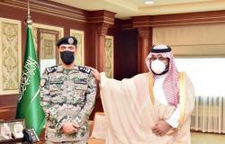 """نائب أمير جازان يقلد """"أبو دوشة"""" رتبة عميد"""