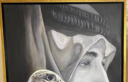 اقتناء 8 لوحات لفنانات حفر الباطن في معرض الفن التشكيلي بمزاد الإبل