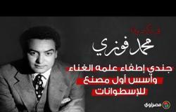 في ذكرى وفاة محمد فوزي.. جندي إطفاء علمه الغناء وأسس أول مصنع للإسطوانات