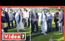 الشيخ على جمعة يتفوق على وزير الشباب فى ضربات الجزاء