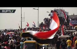 مشاهد من مظاهرات بغداد