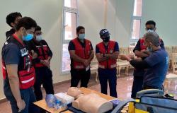 """""""هلال الباحة"""" ينظِّم دورات تدريبية مكثفة لرفع المهارات الإسعافية للمسعفين"""