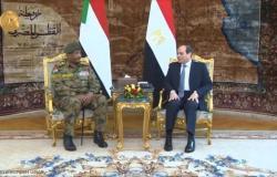 """""""السيسي والبرهان"""" يؤكدان على """"الاتفاق الملزم"""" بخصوص سدّ النهضة"""