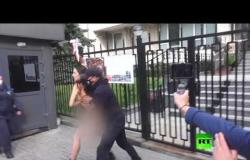 احتجاج عارية أمام سفارة بولندا في كييف