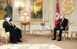 الرئيس التونسي يلتقي سفير خادم الحرمين الشريفين لتوديعه