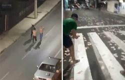 أموال على الأرض ورصاص فوق الرؤوس.. فيديو أعنف سطو مسلح على بنك