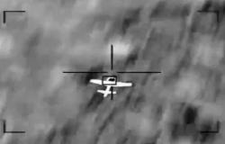 """شاهد.. لحظة تدمير طائرة مسيَّرة """"مفخخة"""" أطلقتها ميليشيا الحوثي تجاه السعودية"""