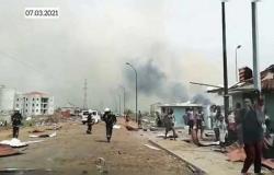 بالفيديو.. مقتل 20 شخصاً في سلسلة انفجارات بمدينة باتا بغينيا الاستوائية