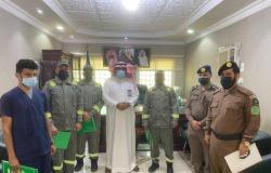محافظ فيفاء يكرّم رجال الدفاع المدني والمتطوعين في إخماد الحرائق