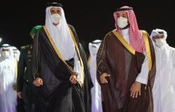 ولي العهد يستقبل أمير دولة قطر بمطار الملك عبدالعزيز الدولي في جدة