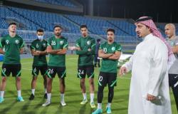 """بحضور """"المسحل """".. الأخضر يدشن معسكر الرياض استعداداً لمباريات التصفيات المشتركة"""