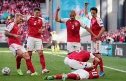 """بقرار من """"يويفا"""" بعد السقوط المخيف لإريكسن.. إيقاف مباراة الدنمارك وفنلندا"""