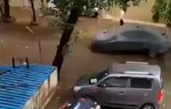 فيديو مروع.. شاهد ما حدث لهذه السيارة في 30 ثانية