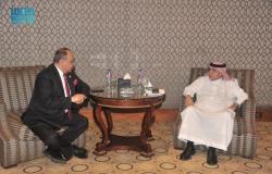 """""""القصبي""""يبحث تعزيز العلاقات الإعلامية مع وزير شؤون الإعلام الأردني"""